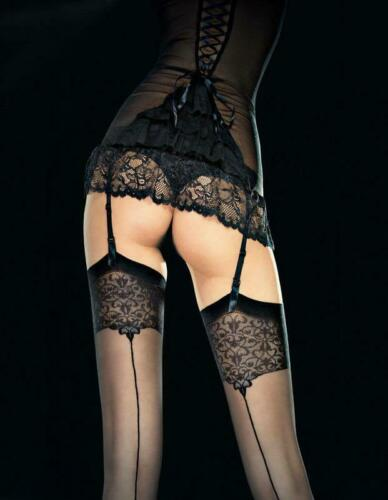 Fiore Obsession VESPER Sensuous Quality Stockings with Patterned Top 20 Denier