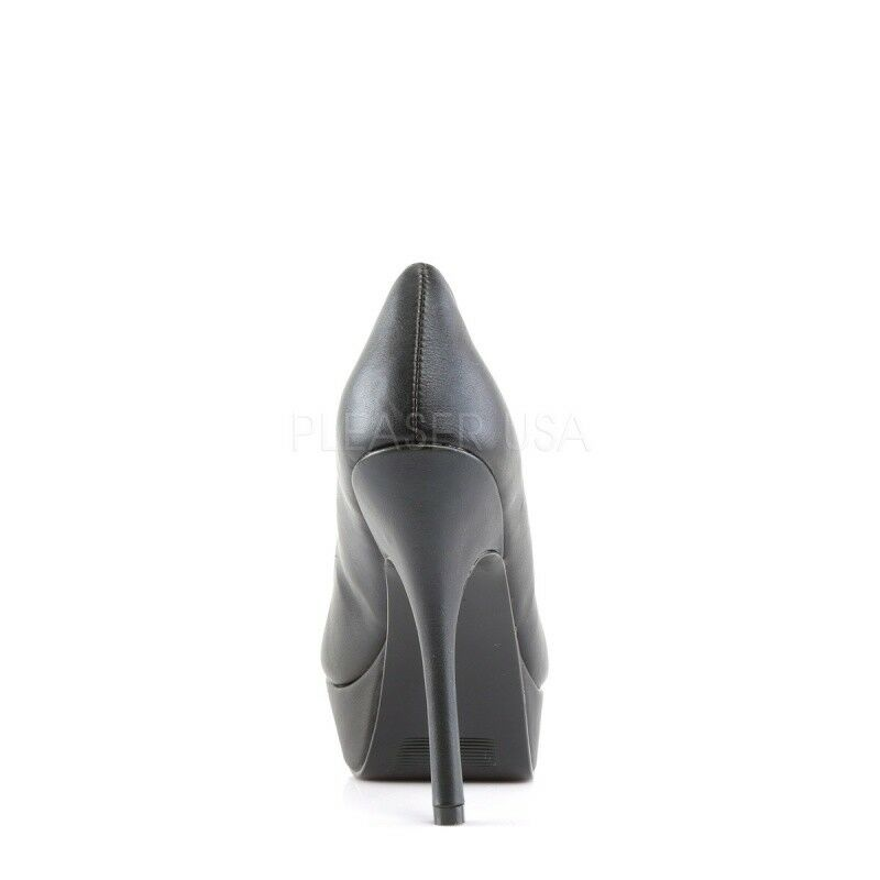 DEMONIA PIXIE-17 Plateau Pumps Peeptoes Schwarz Spikes Gothik Punk Metal Grunge
