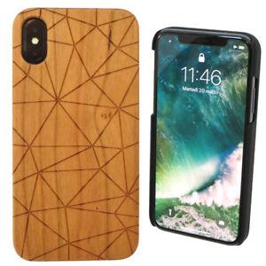 custodia iphone x in legno