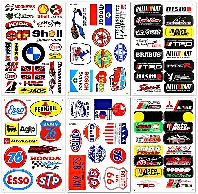 6 Pack Car Automotive Race Truck part garage Racing D1202  Vinyl Decals Stickers
