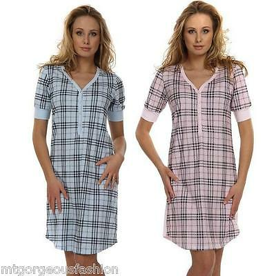 Pregnant Maternity Pregnancy Breastfeeding Nursing Nightdress UK size 8 10 12 14