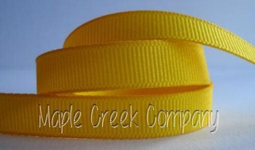 """4yd of Yellow 3//8/"""" Grosgrain Ribbon 3//8/"""" x 4 yards neatly wound"""