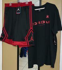 Nike Jordan XI Retro 11 Bred Outfit Shirt Shorts White Black Red (size 2xl)