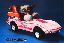 "MOVIE POSTER~~Gremlins Gizmo Driving Pink Barbie Corvette Original 1984 22x32""~~"