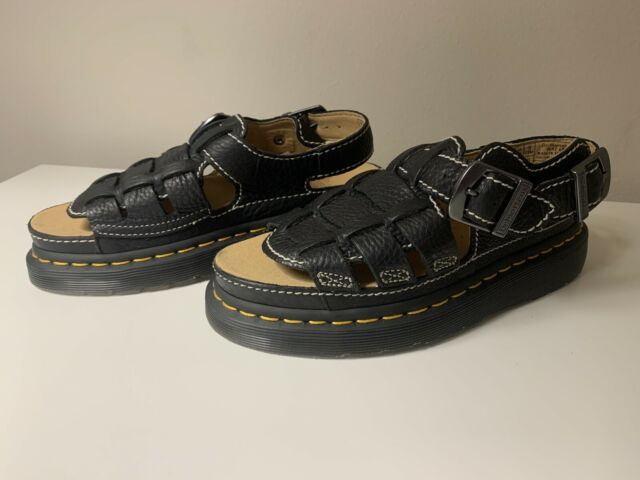 Dr Martens Air Wair 8092 Black Leather Fisherman Sandals Men's Size 5 Youth Boys