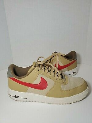 Nike Air Force 1 Low Jersey Gold Sport Red White 488298 701 Men's Size 12 91209188095 | eBay