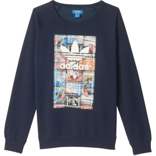 in pullover da lunghe di uomo Adidas Crew maglione maniche Pullover felpa a con Originals CqFIxqXf0w