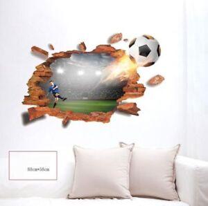 Details zu 3D Wandtattoo Wandsticker Wandaufkleber Kinderzimmer Fußball  Stadion #138