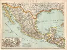 B6280 Mexico - Carta geografica antica del 1902 - Old map
