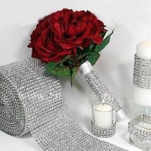 Fashion-Silver-Wedding-Bridal-Bouquet-Wrap-1-Roll-Sparkle-Mesh-Wrap-Ribbon