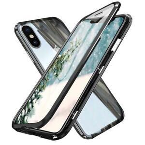 Coque-Magnetique-Bumper-Verre-trempe-AVANT-ARRIERE-Pour-iPhone-7-8-X-XS-XS-MAX