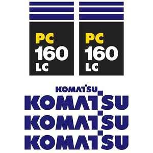 Komatsu-PC130-7-PC160-7-LC-New-Repro-Excavator-decals-Stickers-Kit