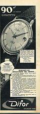 J- Publicité Advertising 1961 La Montre Difor