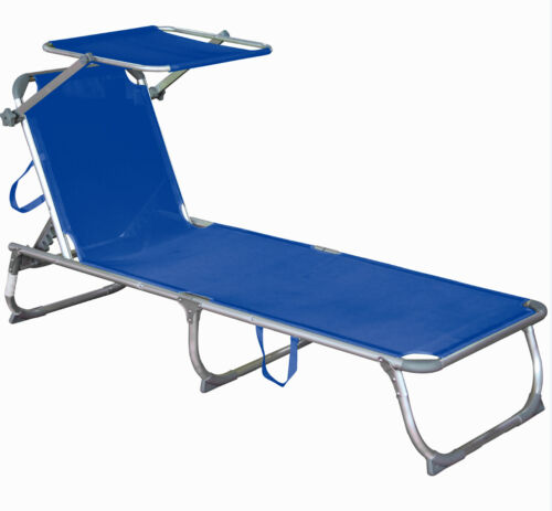 Transat transat alu Relax Chaise longue de jardin chaise protection solaire toit chaise longue transat
