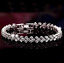 Swarovski-Genuine-Crystal-18K-White-Gold-plated-Bracelet-Gift-box miniatura 4