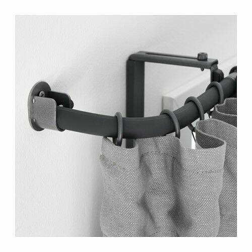 Gray Ikea Racka 10 Curtain Rod Corner