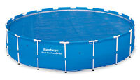 Bestway 18 Foot Round Above Ground Swimming Pool Solar Heat Cover | 58173e on sale