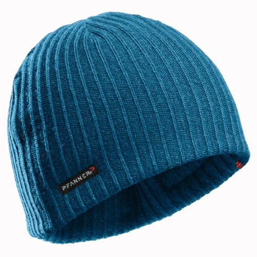 PFANNER Primaloft Gold Strickmütze blue melange Mütze Fleece Winter Kopf blau