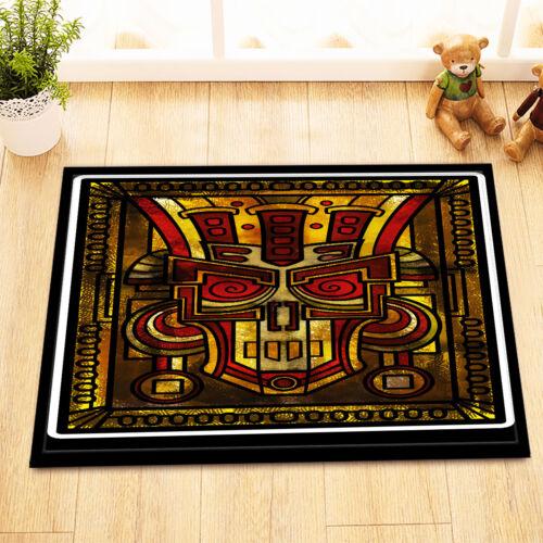 "Mayan Inca Art Tribal Mural Non-Slip Bathroom Carpet Bath Mat Rug Carpet 24x16/"""