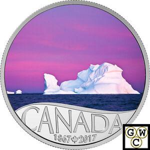 2017Iceberg-at-Dawn-Celebrating-Canada-039-s-150th-039-10-Silver1-2oz-9999Fine-18124