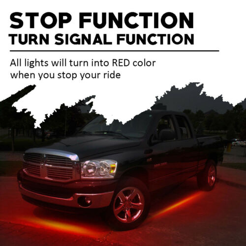 Wireless Remote RGBW Car Under Body Neon Accent Glow LED Lights Kit Bluetooth