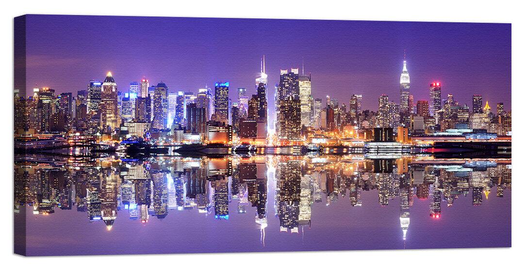 rahmen Stampa su Tela con swarovski new york panorama mannnhattan