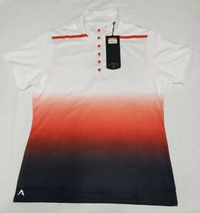 NEW-Antigua-Womens-Hype-Desert-Dry-Golf-Snap-Polo-Shirt-White-Red-Black-Size-M