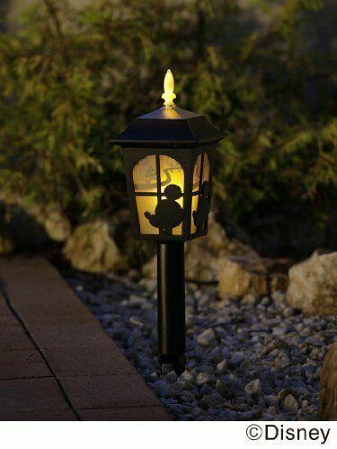 Disney Solar Lights silhouette story Mickey   Minnie w//Tracking form