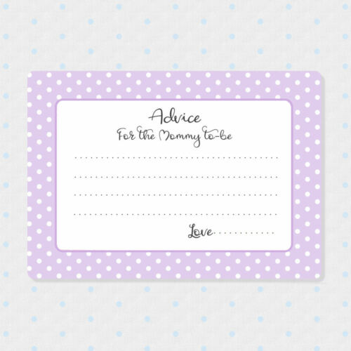Shower Wish Cards Baby Shower Games Pastel 50 Advice Cards for the Mom to be