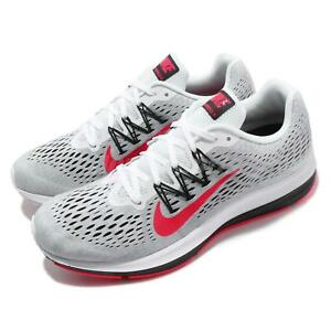 huge discount a9ec8 1f7a7 Details about Nike Zoom Winflo 5 V White Red Orbit Black Men Running Shoes  Sneakers AA7406-101