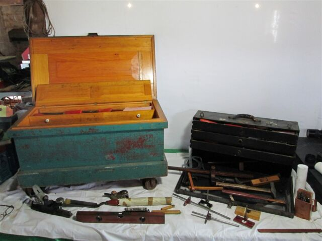 2 Patternmakers Tool Boxes Full of Wm. Ahrens' Antique Tools - 60+ Chisels Etc.