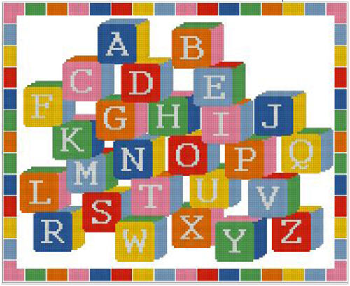 "Alfabeto A-z Cross Stitch Kit Sampler 12,5 /""x 10/"""