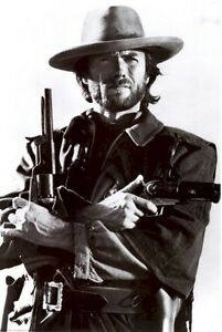 CLINT-EASTWOOD-POSTER-GUNS-24x36-Outlaw-Josey-Wales-Movie-Western