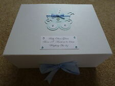 Large Personalised Boy/Girl Gift Memory Keepsake Box New Baby Christening