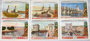 Russia-Unione-Sovietica-1953-1669-74-1666-71-Volga-Don-Canal-Volga-Don-canale-MNH