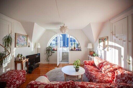 Unik superhyggelig penthouse andel på Frb.C.byt...