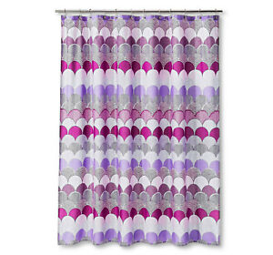 Fabric Shower Curtain Bright Fuchsia Purple Hot Pink Feminine
