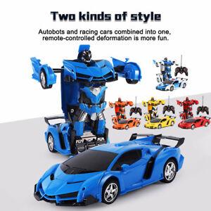 New Transformers RC Remote Control Deformation Car into Robot Toy