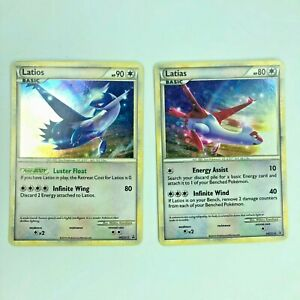 MINT Pokemon Card Holo Promo Latias HGSS10 /& Latios HGSS11 Set