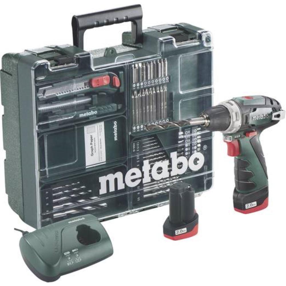 Metabo 10,8V Akku Bohrschrauber PowerMaxx BS   2x Akku 2,0Ah inkl. Werkzeugkoffe