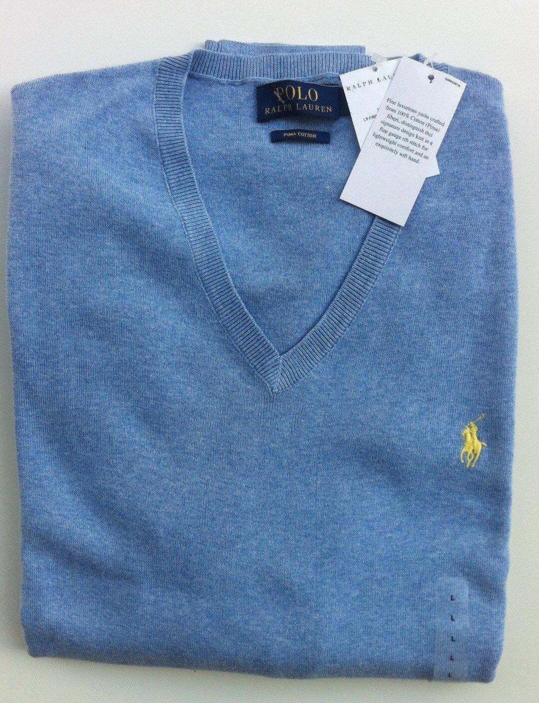 Polo Ralph Lauren Pullover hellblau Gr. M ,Pima Cotton