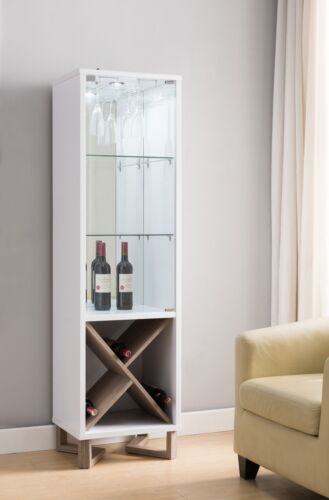 171965 Smart Home Two-tone Wine Display Cabinet Curio