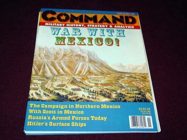 Command Magazine  40 - WAR WITH MEXICO game    - Wargame  (Unpunched)