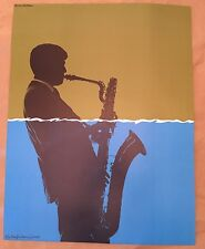 Rare Vintage Gerry Mulligan 1967 Poster Collectors of Jazz Series Saxaphone