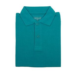 Boys Girls Light Blue Pique Polo Shirt School Uniform Short Sleeve Sizes 4 to 18
