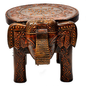 Superb Details About Wooden Hand Painted Stool Elephant Home Decor Handicraft Foot Step Stool 8 Dailytribune Chair Design For Home Dailytribuneorg