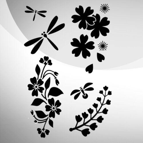 Japanese Garden Decor Art Craft Stencil Walls Furniture A5 A4 A3 254