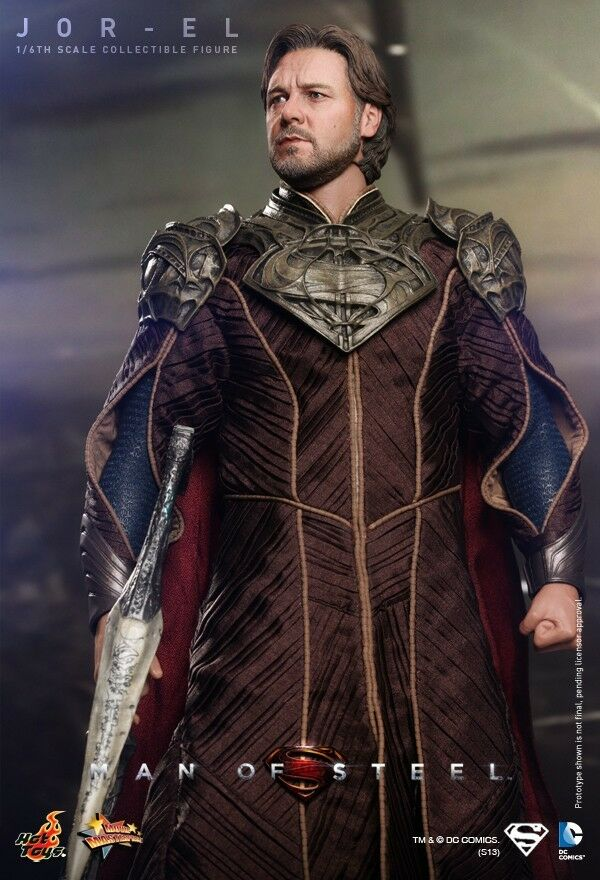 Hot Juguetes MMS201 súperman Man of Steel Jor-El Russell Crowe 1 6 figura