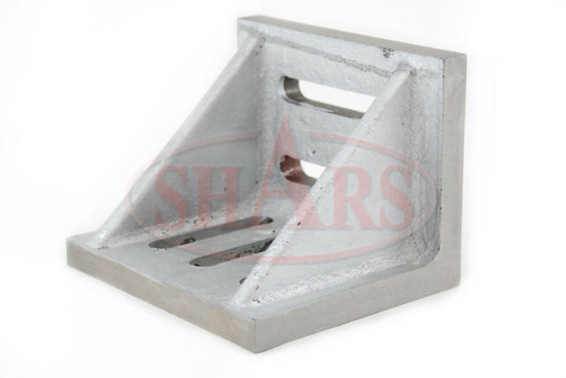 """Shars .002"""" Webbed Slotted Angle Plate 8 x 6 x 5"""" High Tensile Cast Iron New"""