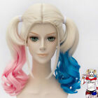 Batman Suicide Squad Harley Quinn Cosplay Wig Pink Blue Gradient Hair FAST SHIP